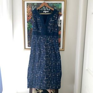 Boden printed dress 6L
